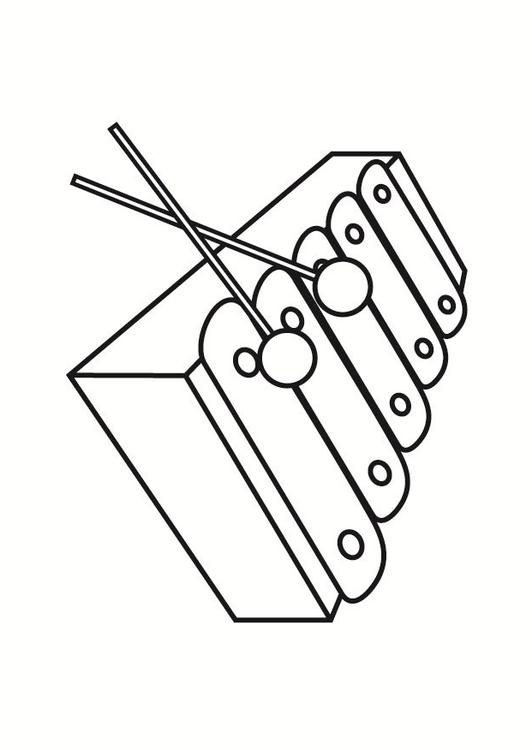 Xylophone Coloring Pages download