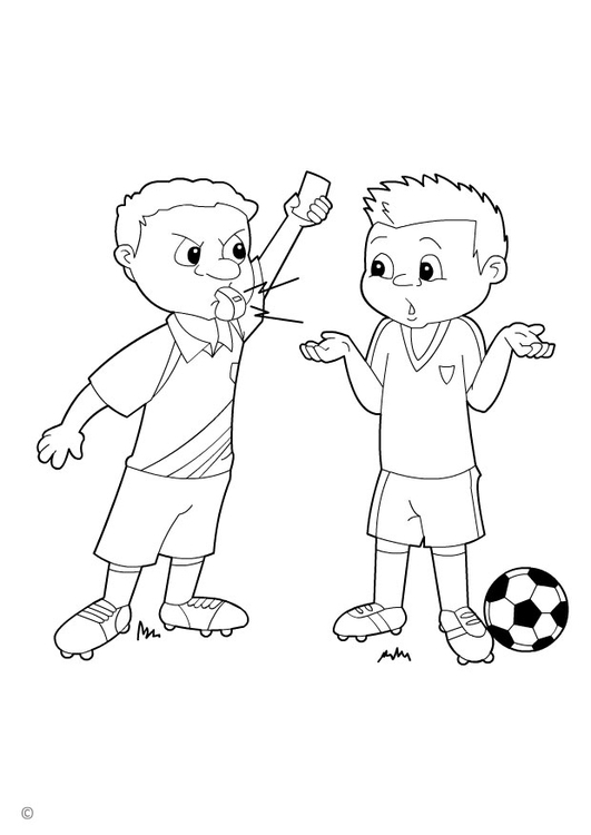 Coloring page yellow card
