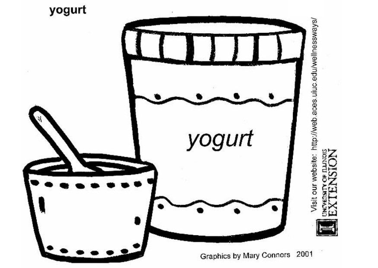 Coloring page yoghurt