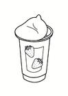 Coloring page yoghurt