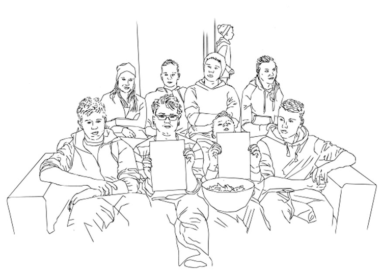 Coloring page youth club