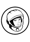 Coloring pages Yuri Gagarin