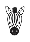 Coloring page Zebra Head