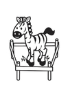 Coloring page Zebra