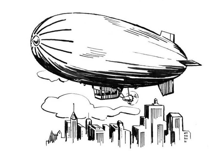 Coloring page zeppelin