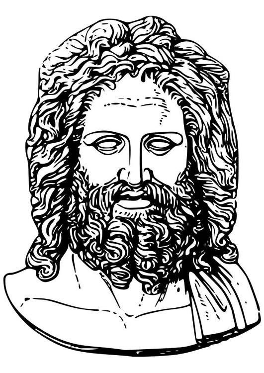 Coloring Page Zeus