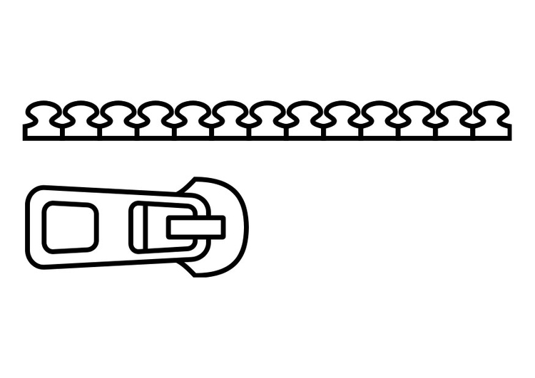 Coloring page zip img 26993 for Zipper coloring page