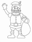 Coloring pages Zwarte Piet (1)