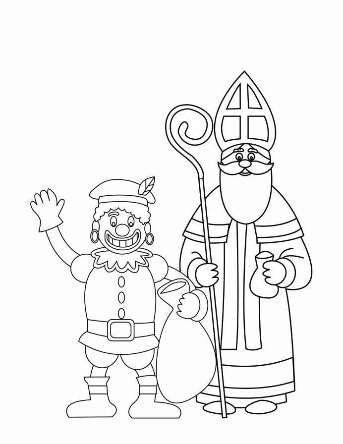 Online Kleurplaten Paarden Coloring Page Zwarte Piet And St Nicholas 2 Img 16170