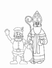 Coloring pages Zwarte Piet and St. Nicholas (2)