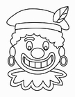 Coloring pages Zwarte Piet Face (2)