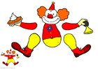 Crafts for kids Clown - Jumping Jack