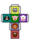 Image dice - animals