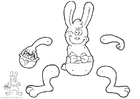 Craft Easter bunny - Jumping Jack