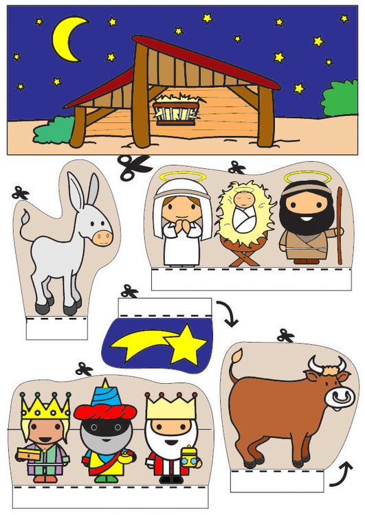 Craft nativity scene show-box