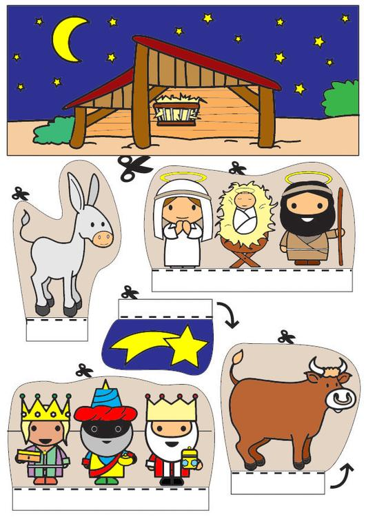 nativity scene show-box