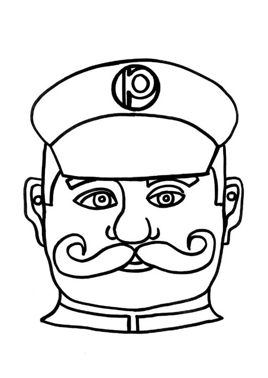 Craft Policeman mask