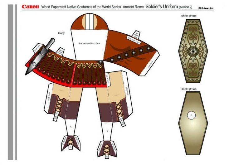 Craft Roman soldier part 2