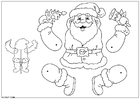 Crafts for kids Santa Claus jumping jack