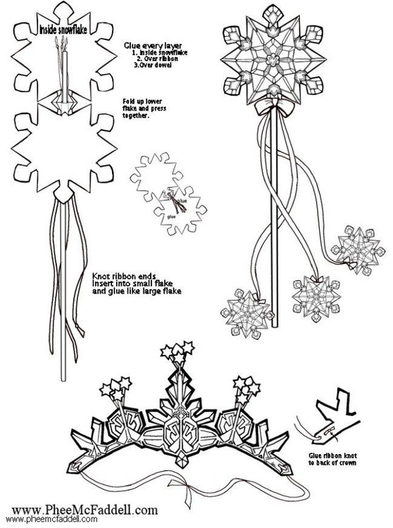 Craft snowflake wand