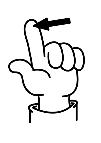 Coloring page finger