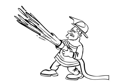 pics of fireman. Coloring page fireman