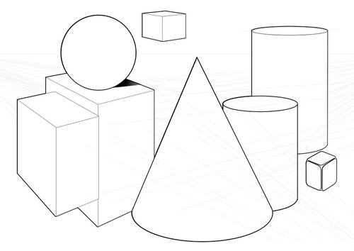 Coloring page geometric shapes - img 10040.
