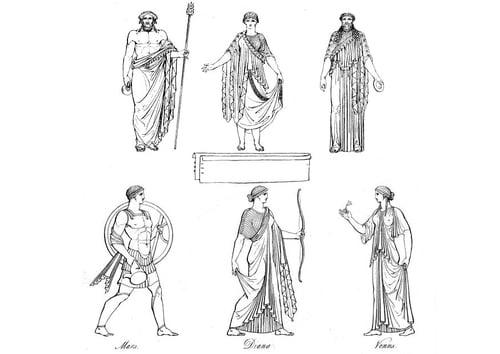 Greek Gods versus Roman Gods