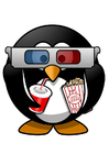 Coloring pages 3D cinema