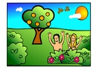 Adam and Eve happy