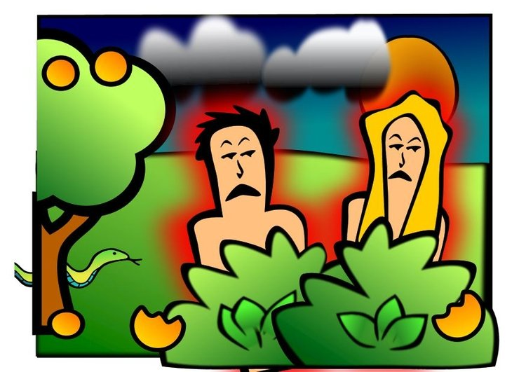 Image Adam and Eve sad