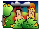 Image Adam and Eve sad
