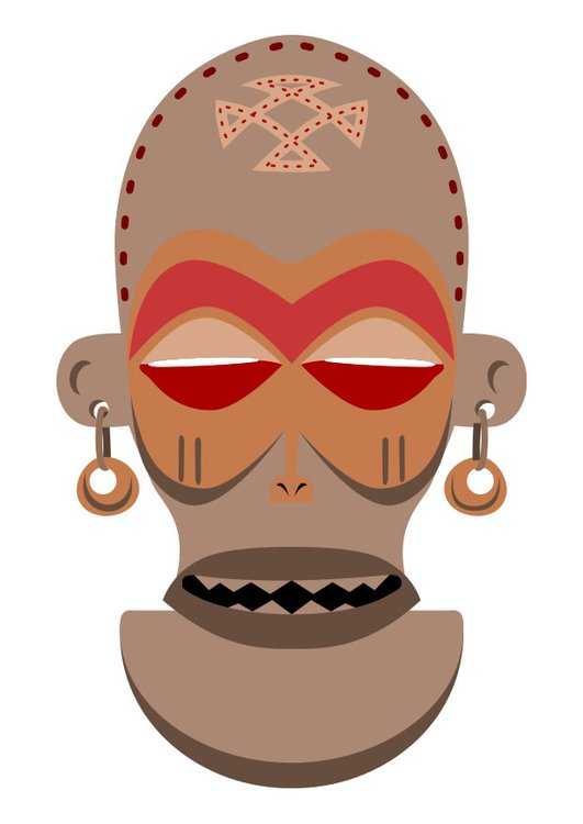 Image African mask - Zaire - Angola