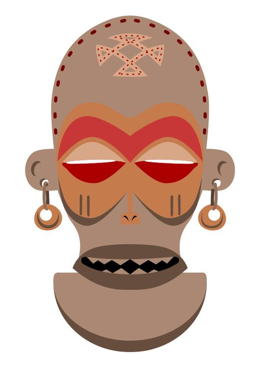 African mask - Zaire - Angola