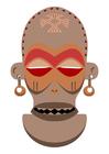 Image African mask - Zaire - Angola