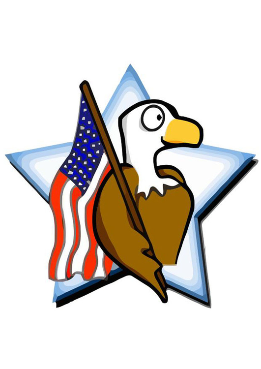 Image American flag with eagle