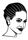 Coloring page Angelina Jolie