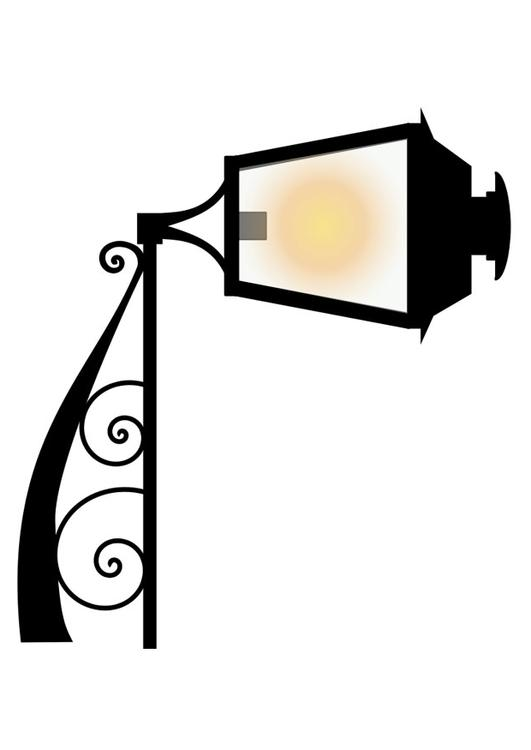 antique street light
