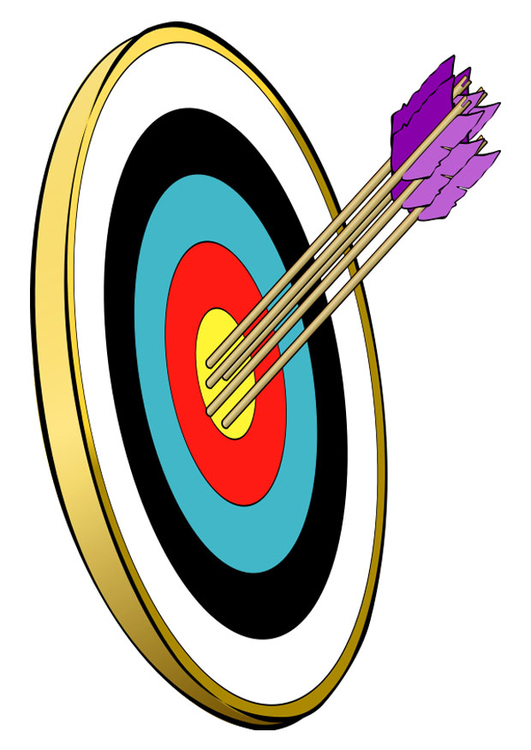 Image arrows in the bull's eye
