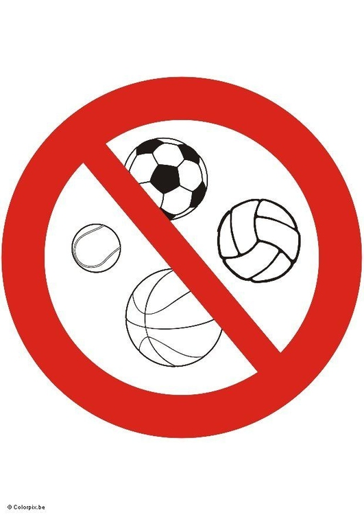 Image ball games forbidden