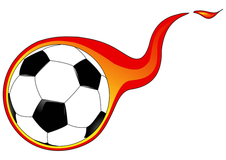 Image ball with flame