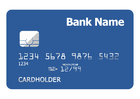 bank card - front side
