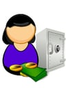 Images bank clerk