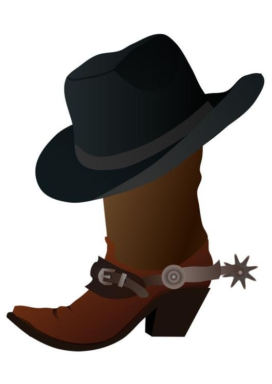 boot with hat
