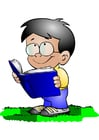 Image boy with book