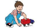 Image boy with toy car