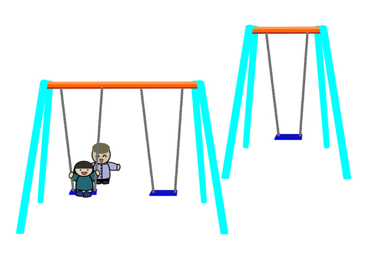 Image children on swing