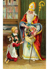 Image children with Santa Claus