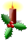 Image christmas candle with holly