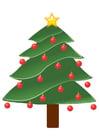 Image christmas tree with christmas balls